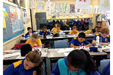 Students in the senior classes write during our whole school writing time – Literacy Festival 2014