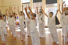 Year 5/6 students practice for the final dance routine for our entry in the Wakakirri Story Dance Competition