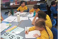 Students record their mathematical thinking